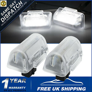 For Ford Transit LED License Plate Light Rear Number Plate Lamp MK6 MK7 Pair