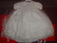 New Baby Girls Christening Baptism Wedding Formal Dress White 0M - 3M Bautizo
