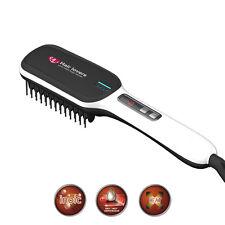 Hair Straightening Brush Straight Comb Automatic Electric Tool Ceramic