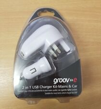 Groove 2 in 1 USB Charger Kit-Mains & Car