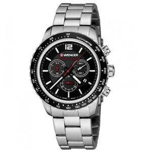 NEW Wenger Roadster Black Night Chronograph Swiss Made Men's Watch