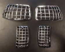 Indicator grille / stone guard in chrome (set of 4) for Vespa PX & LML Star