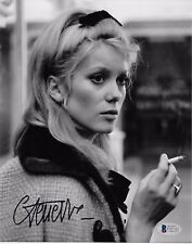 CATHERINE DENEUVE Signed Autographed 8x10 Photo Actress Model SEXY! Beckett BAS