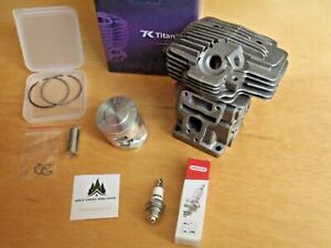 Hyway Titanikel cylinder with pop up piston kit Caber for Stihl MS311 MS391 49mm