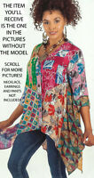 Nwt SACRED THREADS nothing matches sharkbite rayon TOP TUNIC 3X 26W Free shippin