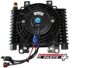 """Competition Oil/Transmission Cooler With Fan - 10 ORB, 10"""" x 7-1/2"""" AF72-6003"""