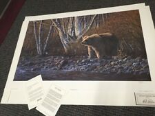 """RON PARKER;  """"Autumn Morning--Grizzly""""  SN lithograph: >30"""" Ed  950  Animals"""