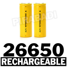2 PILES ACCUS RECHARGEABLE BATTERIE 26650 8800mAh 3.7V Li-ion BATTERY