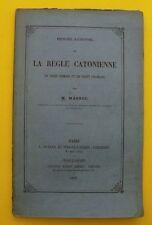 La Règle CATONIENNE - Droit Romain et Droit Français - M. MASSOL - 1876 !