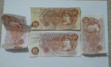 4 x Vintage Bank of England Queen Elizabeth II Ten Shillings 10/- Banknotes