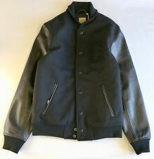CARHARTT WIP STANFORD VARSITY JACKET, Leather/Wool, Black, S *special/rare*