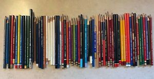 Vintage Colored Pencil Lot 65 Pencils Large List of Brands