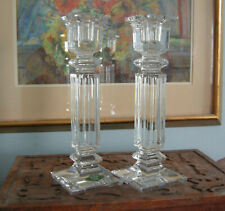"""Shannon Crystal Designs of Ireland 24% Lead Crystal Candle Holders Pair 10"""" Tall"""