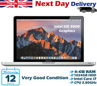 """Apple MacBook Pro 13.3"""" Intel Core i7 2.80GHz 8GB RAM 1TB HDD A1278 High Sierra"""