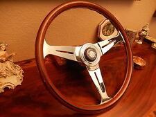 "Mercedes R107 450 SL  - SLC 1971 - 1976 Wood Steering Wheel NARDI 15.3"" New NOS"