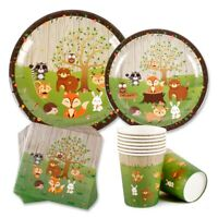 Woodland Animal Party Supplies Plate Tableware Baby Shower Birthday Party Decor