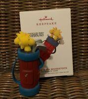 Hallmark Keepsake Ornament Peanuts Snoopy Golfing with Woodstock Golf Bag NEW