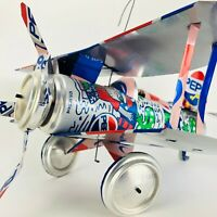 Vtg Pepsi Can Airplane Surf & Santa Made From Real Soda Pop Cans Art Handmade