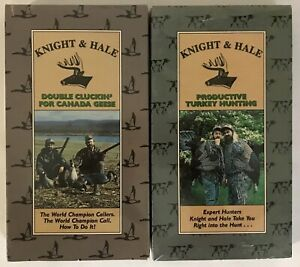 Lot Of 2 VHS Tapes Knight And Hale *Turkey Hunting *Double Clucking/Canada Geese