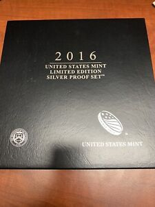2016 U.S. MINT LIMITED EDITION SILVER PROOF SET w/ OGP BOX American Eagle ATB