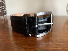 "VVGC Joseph Cheaney & Sons Men's Black Grain Leather Belt 32"""