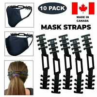 10 pc Face Mask Adjustable Ear Guard Saver Extension For Comfortable Fit CANADA