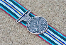 ANNIVERSARY OF NATIONAL SERVICE MEDAL 1951-72 MINIATURE MEDAL WITH W/10CM RIBBON