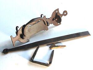 Clenche ancienne complète fer forgé serrure verrou porte poignée XVIIIe XIXe