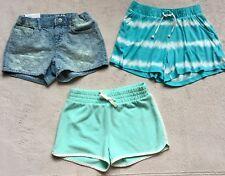 Gap Kids Shorts, Girls Sz 8, Shorty Denim, Mint Green Jogger, Cotton Tie-Dye NEW