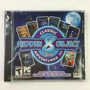 Hidden Object 8 Pack Classic Adventures III PC Game Rated Teen Tri Synergy New
