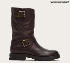 Frye Waterproof Brown Natalie Mid Engineer Shearling Winter Boot 7.5 $478 EUC