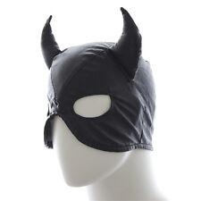 Club Cosplay Horn Masks Fake Leather Mask Headgear Head Restraints Sex Toys PB