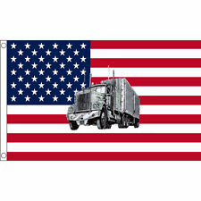 USA Truck Flag 5 x 3 FT - United States Of America Lorry Trucker Decoration