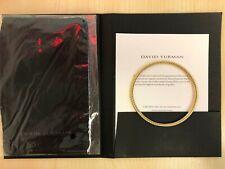 DAVID YURMAN Cable & Smooth 18K Yellow Gold Thin Bangle Bracelet Medium