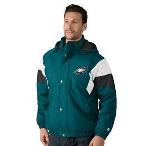 Philadelphia Eagles VINTAGE BREAK-OUT Hooded Full Zip/Button NFL Jacket