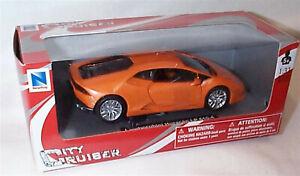 Lamborghini huracan LP610-4 in Orange 1:32 Scale Diecast  Newray New in Box