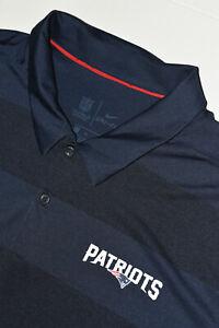 Nike Dri-Fit NFL On Field Men's XL PATRIOTS Sideline Preseason Polo Shirt EUC 32