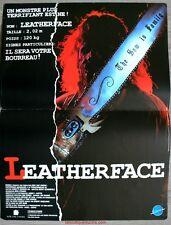 LEATHERFACE Massacre à la Tronçonneuse 3 Affiche Cinéma / Movie Poster Jeff Burr