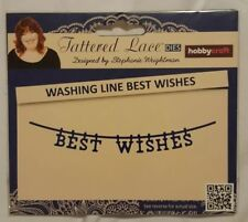 Tattered Lace Washing Line Best Wishes Die
