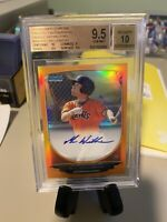 2013 Bowman Chrome Mac Williamson Orange Refractor Auto #/25 BGS 9.5 Auto 10