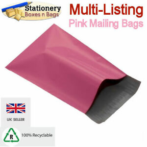 STRONG PINK MAILING BAGS - Postage Mailers Plastic Post Polythene *RECYCLABLE*
