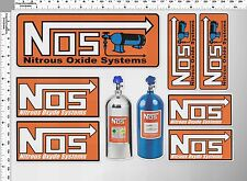*1 SET NOS NITROUS OXIDE SYSTEMS VINYL OUT DOOR DECAL STICKER PRINTED DIE-CUT