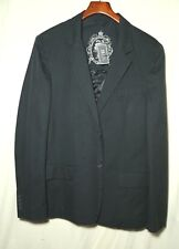 NWT-New_FOREVER 21 MEN Career Jacket_Blue Pinstriped Cotton_Sz.L-Large(40 to 42)