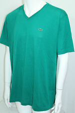 Lacoste Prima Cotton Jersey V-Neck Men's T-Shirt  Sz 3 = Small Green NWT