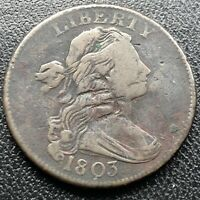 1803 Large Cent Draped Bust One Cent 1c Better Grade XF Details  #17683