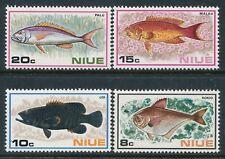 1973 NIUE FISH SET OF 4 FINE MINT MNH