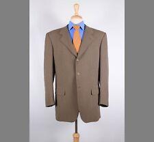 Louis, Boston 42L Brown Solid Wool Three Button Mens Sport Coat Blazer Jacket