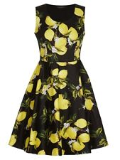 Crossroads Short Lemon Flare Sleeveless 60's Style Dress Size 20 Black/Yellow