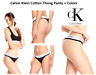 Calvin Klein Women's Modern Cotton Thong Panty Black White Logo Panties S M L XL