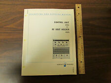 HP 8706A Control Unit and 8707A RF Unit Holder Op & Service Manual